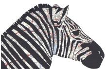 Zebra Map Collage